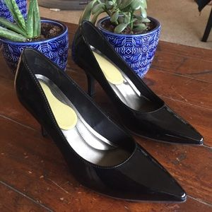 Comfort Plus Black Shiny Heels 10